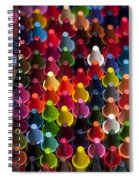 Rows Of Multicolored Crayons  Spiral Notebook