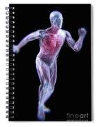 Running Male Figure Spiral Notebook