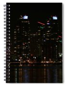 San Diego Skyline Night Spiral Notebook