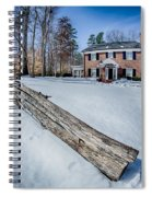 Snow Around Billy Graham Library After Winter Storm Spiral Notebook