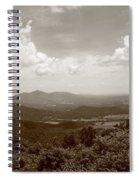 Blue Ridge Mountains - Virginia Sepia 8 Spiral Notebook