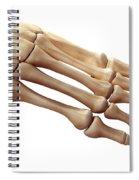 Foot Bones Spiral Notebook