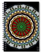 Kaleidoscope Stained Glass Window Series Spiral Notebook