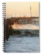 Ocean Wave Storm Pier Spiral Notebook