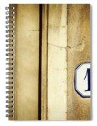 13 With Wooden Door Spiral Notebook