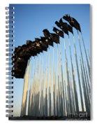 138 Black Flags Havana Cuba Spiral Notebook