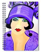 Art Deco Milly Spiral Notebook