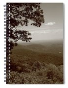 Blue Ridge Mountains - Virginia Sepia 9 Spiral Notebook