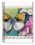 14 Cent Butterfly Stamp Spiral Notebook
