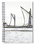 Fishing Vessel In The Arabian Sea Spiral Notebook