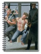 14. Jesus Is Nailed To The Cross / From The Passion Of Christ - A Gay Vision Spiral Notebook