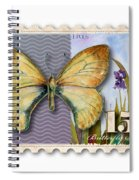 15 Cent Butterfly Stamp Spiral Notebook