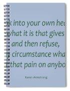 156- Karen Armstrong Spiral Notebook