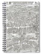 1576 Zurich Switzerland Map Spiral Notebook