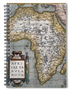 1584 Map Of Mysterious Africa Spiral Notebook