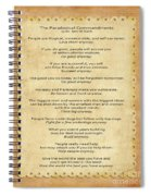 159- The Paradoxical Commandments Spiral Notebook