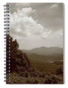 Blue Ridge Mountains - Virginia Sepia 7 Spiral Notebook