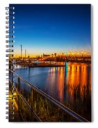 Bridge Of Lions St Augustine Florida Painted  Spiral Notebook