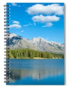 Lake With Mountains In The Background Spiral Notebook