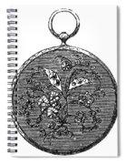 Pocket Watch, 19th Century Spiral Notebook