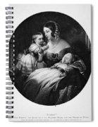 Victoria Of England Spiral Notebook