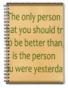 165- Yesterday Spiral Notebook