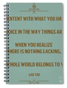169- Lao Tzu Spiral Notebook