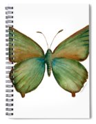17 Green Hairstreak Butterfly Spiral Notebook