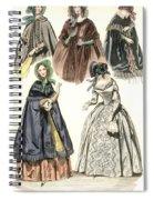 Women's Fashion, 1842 Spiral Notebook