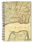 1776 New York City Map Spiral Notebook