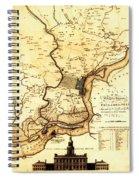 1777 Philadelphia Map Spiral Notebook