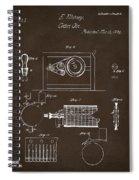 1794 Eli Whitney Cotton Gin Patent 2 Espresso Spiral Notebook