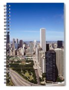 Aerial View Of Buildings In A City Spiral Notebook