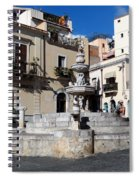 Another View Of An Old Unused Fountain In Taormina Sicily Spiral Notebook