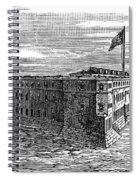 1800s 1860s View Of Fort Taylor Key Spiral Notebook