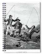 1800s Three 19th Century Men In Boat Spiral Notebook