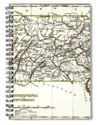 1835 Pennsylvania And New Jersey Map Spiral Notebook