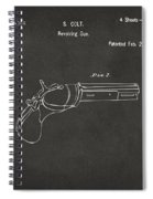 1836 First Colt Revolver Patent Artwork - Gray Spiral Notebook