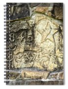 1845 Republic Of Texas - Carved In Stone Spiral Notebook