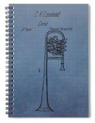 1858 Trumpet Patent Spiral Notebook