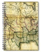 1861 United States Map Spiral Notebook