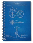 1866 Velocipede Bicycle Patent Blueprint Spiral Notebook