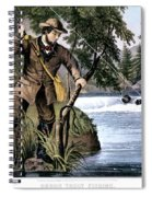 1870s Brook Trout Fishing - Currier & Spiral Notebook