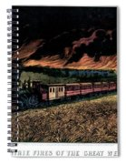 1870s Prairie Fires Of The Great West - Spiral Notebook