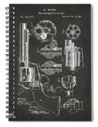 1875 Colt Peacemaker Revolver Patent Artwork - Gray Spiral Notebook