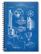 1875 Colt Peacemaker Revolver Patent Blueprint Spiral Notebook