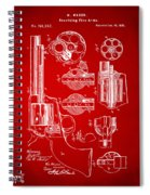 1875 Colt Peacemaker Revolver Patent Red Spiral Notebook