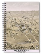 1876 Birds Eye Map Of Mckinney Texas Spiral Notebook