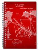 1879 Quinby Aerial Ship Patent - Red Spiral Notebook