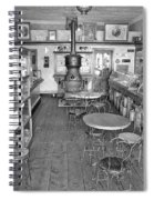 1880 Drug Store Black And White Spiral Notebook